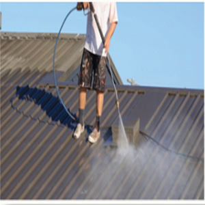 Metal Roof Restoration - Residential - Image 2 - Cleaning
